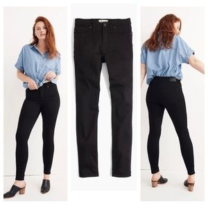 "NWT Madewell 9"" Mid Rise Black Skinny Jeans ISKO"